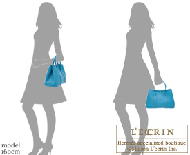 Hermes Garden Party bag TPM Turquoise blue Country leather Silver hardware