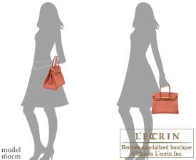 Hermes Birkin bag 30 Rosy Togo leather Gold hardware