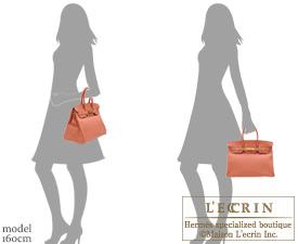 Hermes Birkin bag 35 Rose tea Clemence leather Gold hardware