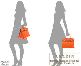 birkin bag buy - hermes 35cm orange feu clemence birkin bag with gold hardware