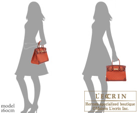 Hermes Birkin Ghillies bag 30 Brique/RougeH/Sunset Ostrich leather Champagne gold hardware