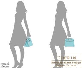 Hermes Birkin bag 25 Blue atoll Togo leather Silver hardware