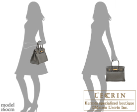 Hermes Birkin bag 30 Vert gris/Green grey Clemence leather Gold hardware