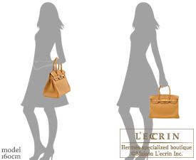 Hermes Birkin bag 30 Natural sable Clemence leather Gold hardware
