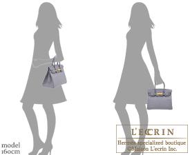 Hermes Birkin bag 30 Gris agate Ostrich leather Gold hardware
