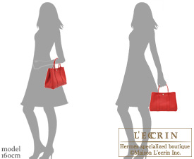 Hermes Garden Party bag TPM Rouge casaque Epsom leather Silver hardware