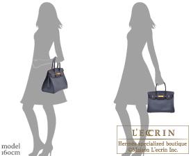 Hermes Birkin Contour bag 30 Blue indigo/Rouge H Epsom leather Gold hardware