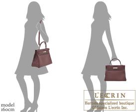 Hermes Kelly bag 32 Bordeaux Togo leather Silver hardware
