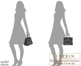 Hermes Birkin bag 25 Black Swift leather Silver hardware