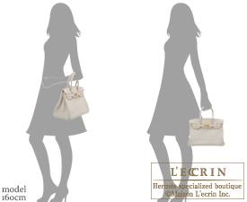 Hermes Birkin bag 30 Beton Clemence leather Gold hardware