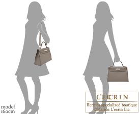 Hermes Kelly bag 32 Etain/Etain grey Epsom leather Silver hardware
