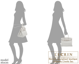 Hermes Birkin bag 30 Pearl grey Clemence leather Silver hardware
