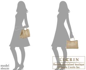 Hermes Garden Party bag TPM Trench Epsom leather Silver hardware