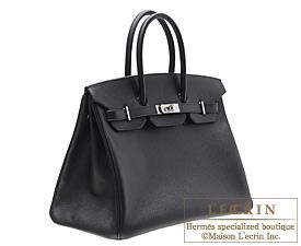 2d289fcee6 ... Hermes Birkin bag 35 Black Epsom leather Silver hardware