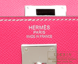 Hermes Kelly bag 35 Rose tyrien/Hot pink Epsom leather Silver hardware