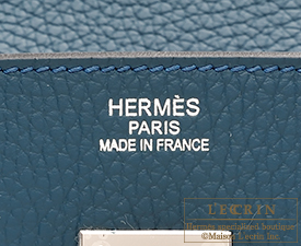 Hermes Birkin bag 35 Colvert Clemence leather Silver hardware ...