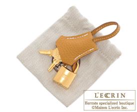 Hermes Birkin bag 25 Natural sable Togo leather Gold hardware