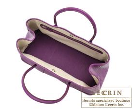 Hermes Garden Party bag TPM Anemone Negonda leather Silver hardware