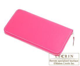 Hermes Azap long Rose tyrien Epsom leather Silver hardware