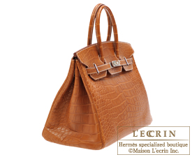 e6139fcc80 ... Hermes Birkin bag 30 Fauve Alligator barenia crocodile skin Silver  hardware