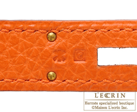 Hermes Birkin bag 40 Orange Togo leather Gold hardware