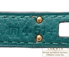 Hermes Birkin bag 25 Malachite Togo leather Gold hardware