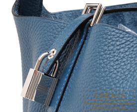 Hermes Birkin bag 30 Colvert Clemence leather Silver hardware