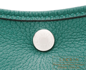 Hermes Garden Party bag TPM Malachite Negonda leather Silver hardware