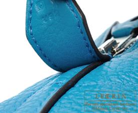 Hermes Bolide bag 35 Blue izmir Clemence leather Silver hardware