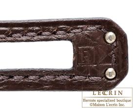 Hermes Birkin bag 25 Cacao Togo leather Silver hardware