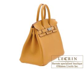 Hermes Birkin bag 25 Natural sable Togo leather Silver hardware