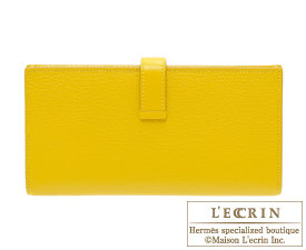 Hermes Bearn Soufflet Cumin Chevre myzore goatskin Gold hardware