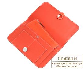 Hermes Dogon GM Rouge casaque/Capucine Togo leather Silver hardware