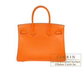 Hermes Birkin bag 30 Orange Epsom leather Gold hardware