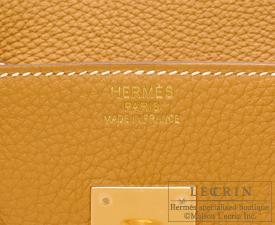 Hermes Birkin bag 35 Natural sable Togo leather Gold hardware
