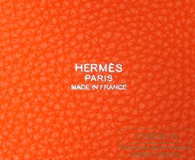 Hermes Picotin Lock bag PM Feu/Fire orange Clemence leather Silver hardware