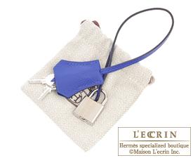 Hermes Birkin bag 35 Blue electric Epsom leather Silver hardware