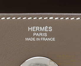 Hermes Lindy bag 26 Etoupe Swift leather Silver hardware