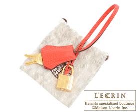Hermes Birkin bag 35 Rouge pivoine Clemence leather Gold hardware
