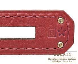 Hermes Kelly bag 28 Rouge garance Clemence leather Silver hardware