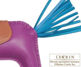Hermes Rodeo charm Anemone/Blue izmir Agneau