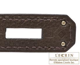 Hermes Kelly bag 32 Ecorce Togo leather Silver hardware