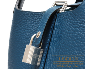 Hermes Picotin Lock bag PM Colvert Clemence leather Silver hardware