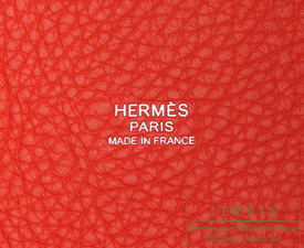 Hermes Picotin Lock bag MM Rouge pivoine Clemence leather Silver hardware