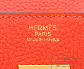 Hermes Birkin bag 30 Rouge pivoine Togo leather Gold hardware
