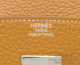 Hermes Birkin bag 30 Natural sable Clemence leather Silver hardware