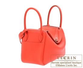 Hermes Lindy bag 26 Rose jaipur Clemence leather Silver hardware