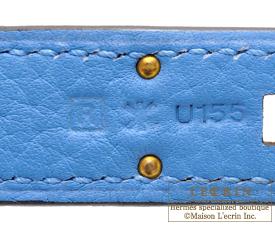 hermes birkin bag 35 blue paradise clemence leather gold hardware