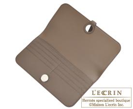 Hermes Dogon LONG Taupe grey Evercolor Matt silver hardware