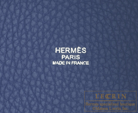 Hermes Picotin Lock bag GM Blue saphir/Sapphire blue Clemence leather Silver hardware